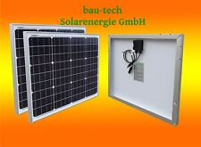 2 Stück 50 Watt Mono Solarmodul 12V Solarpanel Monokristallin für Camping Garten