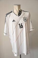 2012 Deutschland Trikot Lahm #16 Gr. XXL Adidas WM DFB Home EM Jersey 2XL