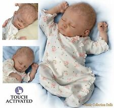 "Ashton Drake""SOPHIA"" LIFELIKE BABY DOLL-BREATHES-COO'S-HEARTBEAT-NEW ROOTED HAIR"