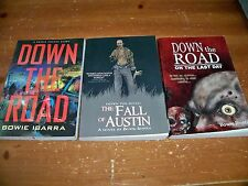 3 Zombie Paperbacks Lot -- DOWN THE ROAD - LAST DAY - AUSTIN -- Bowie Ibarra