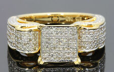 1.15 CARAT REAL DIAMOND WOMEN YELLOW GOLD FINISH DIAMOND ENGAGEMENT WEDDING RING