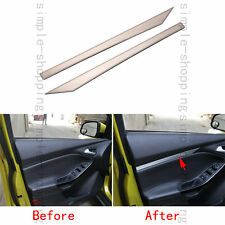 2pcs Stainless Door Armrest Decoration Stripe Cover Trim For Ford Focus 12-2017