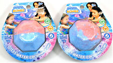 Pool Bombz Fizzy Water Coloring Fun! Lot of 2 Pink & Blue
