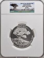 2013 5oz Silver 25C Great Basin NGC SP 69 Early Releases perfect must see!