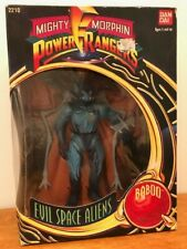 """Mighty Morphin PowerRangers 8"""" Evil Space Alien Baboo minor shelf wear new 1994"""