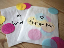 10x modern style 'throw me' confetti bags for wedding, party, favours