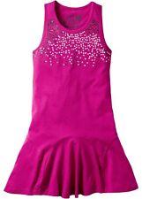 Kleid mit Pailletten Gr. 152/158 Mittelfuchsia Mädchen Sommerkleid Neu