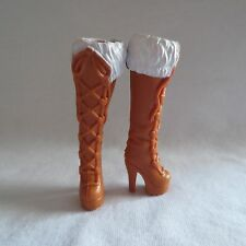 NEW Barbie Fashionista Summer Doll Brown High Heel Winter Boots ~ Shoes