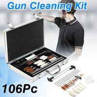 106Pcs Universal Gun Cleaning Kit Air Rifle Pistol Shotgun Brush Rod Mop