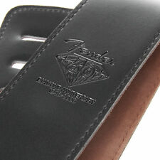 FENDER  Leather Thick Strap For Bass Electric or Acoustic Guitar BLACK