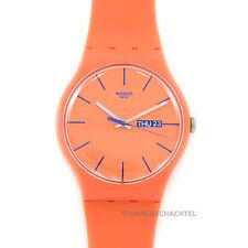 Orologio Swatch New Gent orangy Rosa REBEL NUOVO E OVP-SUOO 701