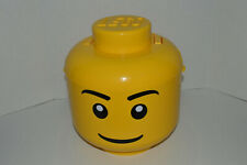 Large Lego Head Storage Container Brick Sorter 2 Tray w/ Handle & Lid Yellow