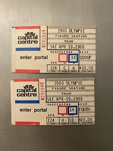 LOT 2 1980 OLYMPIC FIGURE SKATING TOUR TICKET STUBS: