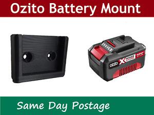 6 x Ozito 18v Battery Holder - Mount bracket Storage tool