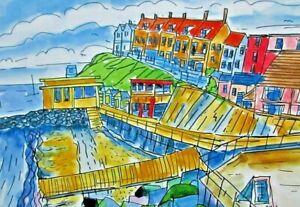 Digital Print of Sheringham Beach View by Ann Marie Whitton
