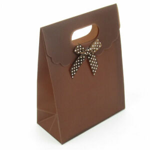 Bowknot Birthday Gift Paper Stickup Handle Small Bags Wedding Packing Supplies