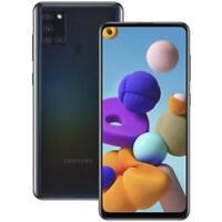 NEW Samsung Galaxy A21S 32GB 3GB RAM 6.5 INCH 48MP SimFree Dual SIM PHONE Black