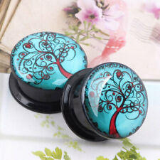Acrylic Tree of Life Ear Plug Flesh Tunnel Gauge Stretcher Screw Saddle Expander
