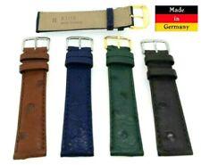 Uhrenarmband echt Strauss blau, grün, braun, schwarz 20mm Made in Germny / 32