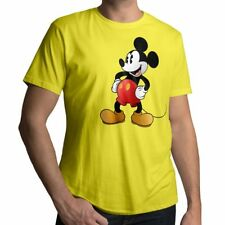 Classic Mickey Mouse Retro Disney Vintage Original Mens Unisex Crew Neck T-Shirt
