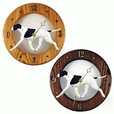 English Pointer Wood Wall Clock Plaque Black/White