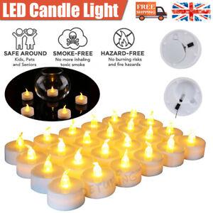 36 Pcs LED Electronic Candle Battery Operated Tea Light Flickering Celebrate UK