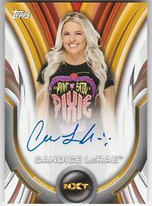2020 Topps WWE Women's Division Candice LeRae AUTO /199