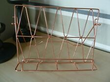 *BNWOT* COPPER ROSE GOLD WIRE COOK READING PAPER BOOK STAND - 32CM