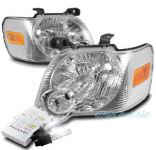 FOR 06-10 FORD EXPLORER/07+ SPORT TRAC REPLACEMENT CHROME HEADLIGHT LAMP +6K HID