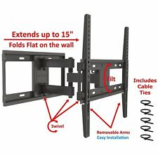 Full Motion TV Wall Mount Tilt Swivel Bracket VESA 32 39 40 42 49 50 55 Inch