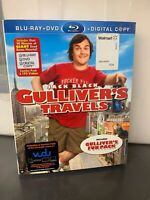 GULLIVER'S TRAVELS movie JACK BLACK BluRay/DVD Combo - USED - GREAT CONDITION