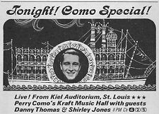 1965 TV AD~KIEL AUDITORIUM,ST LOUIS THE PERRY COMO SPECIAL~RIVERBOAT