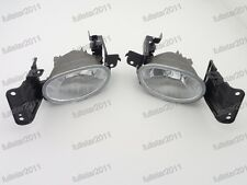 1Pair Clear Front Bumper Fog Lights Lamps For Honda Accord Crosstour 2010-2012