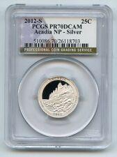 2012 S 25C Silver Acadia Quarter PCGS PR70DCAM