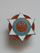 More details for vintage silver 50 years loyalty lapel badge amalcamated society of woodworkers