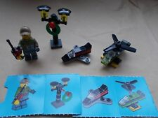 LEGO CITY SCENE - MAN WITH REMOTE CONTROL HELICOPTER & PLANE, STREET LIGHTS