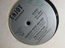 """THE DISCO FOUR COUNTRY ROCK AND RAP 1982 RARE 12"""" SINGLE VG++  FREE SHIPPING!!"""