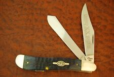 CASE XX USA LIMITED EDITION 1/2500 1998 BLUE BONE DOGLEG TRAPPER KNIFE (3692)
