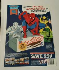 Marvel drake's cakes promo sheet ( 2) 1993