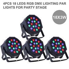 4PCS 18 LED RGB PAR DJ Stage DMX Lighting For Disco Party Wedding