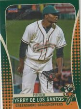 2019 Greensboro Grasshoppers Yerry De Los Santos RC Rookie Pittsburgh Pirates