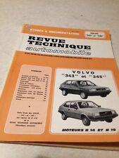 Revue Technique Automobile Volvo 343 345 moteur B14 B19 edition 82