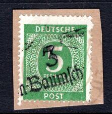 1948 Germany SBZ HOP BEZIRK 3 BERLIN,  Mi. # l b l, Used on Piece, 5 Pf. NUMERAL