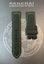 Panerai Green OEM Suede Strap 24mm Lug for Tang Buckle