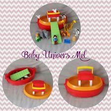 Jouet Jeux Playmobil 1 2 3 n°6765 L'arche de Noé TBE comme neuf complet