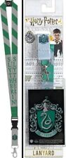 Harry Potter House Of Slytherin Colors and Name Lanyard with Logo Badge Holder