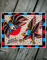 Eagles! Tattoo Flash Art Print | Neo-Traditional / Sailor Jerry