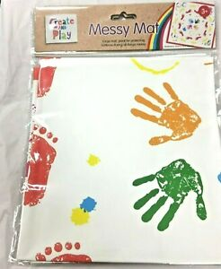 WATERPROOF Messy Mat Art Children Kids Craft Play Paint Area Table Cover white
