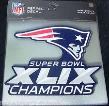 "New England Patriots 2014 Super Bowl 49 Champions 8"" x 8"" Color Decal"