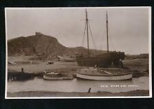 Somerset Weston-super-Mare UPHILL River Axe Boats sailing barge 1944 RP PPC